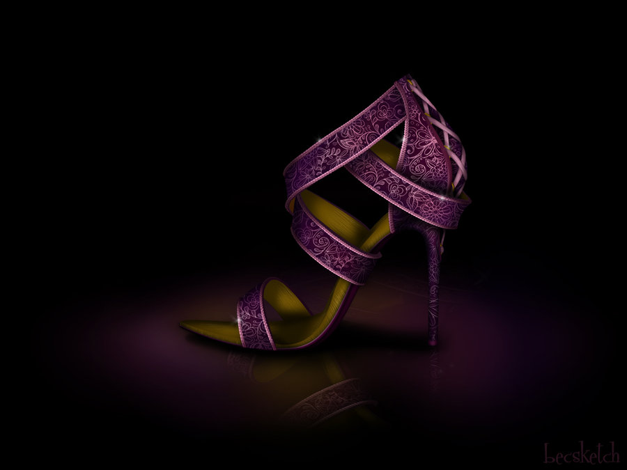 rapunzel__s_shoe___disney_sole_by_becsketch-d4mx4ha